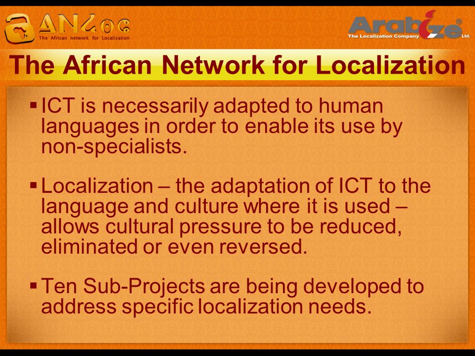 The African Network for Localization