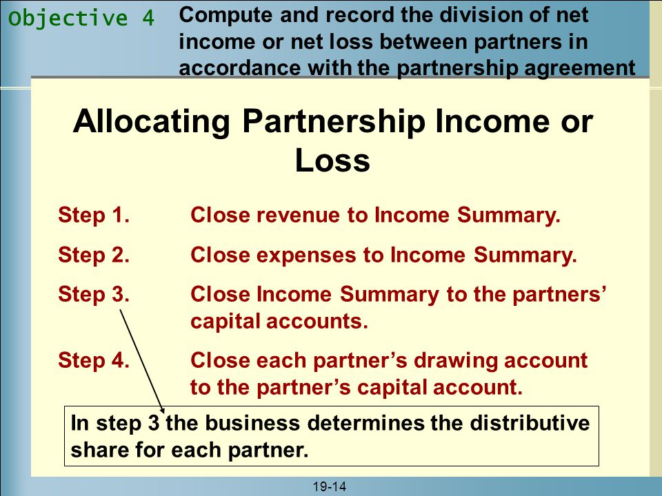 Allocating Partnership Income or Loss