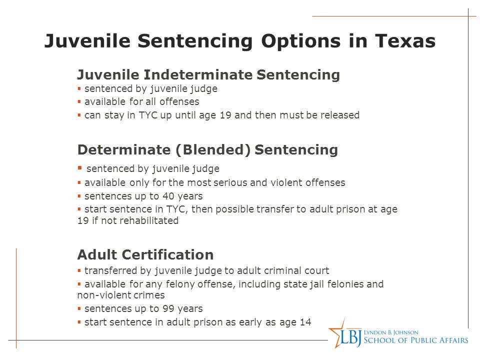 Juvenile Sentencing Options in Texas - ppt video online download