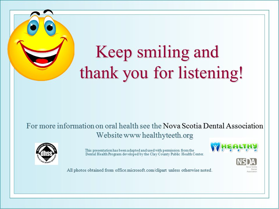 Keep smiling and thank you for listening!