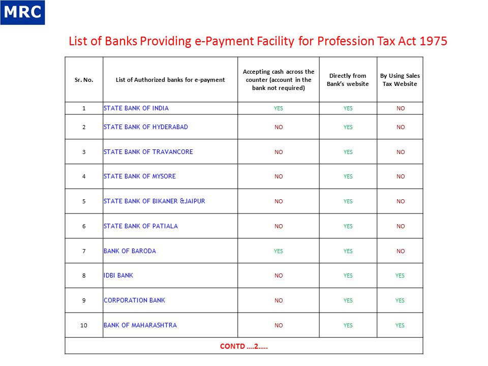 Profession Tax GOVERNMENT OF MAHARASHTRA DEPARTMENT OF SALES TAX