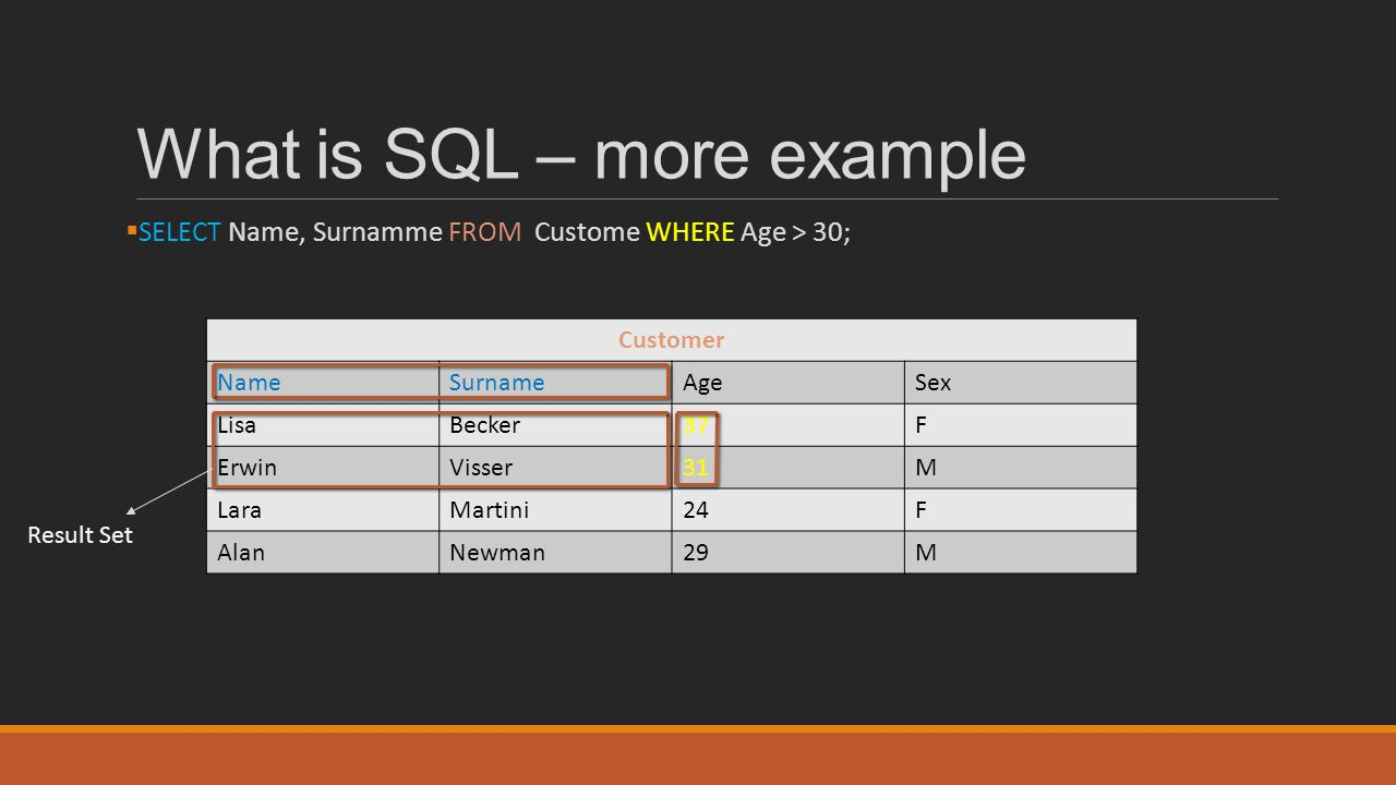 What is SQL – more example