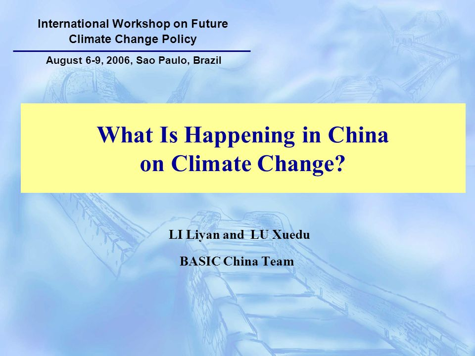 What Is Happening in China on Climate Change