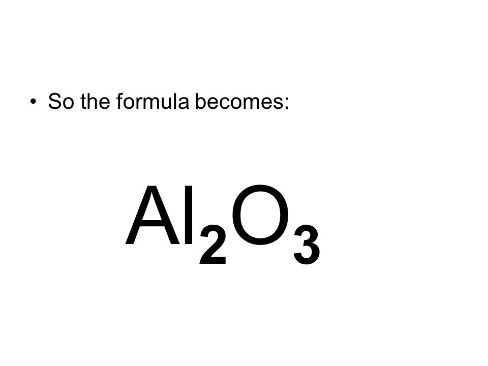 So the formula becomes: