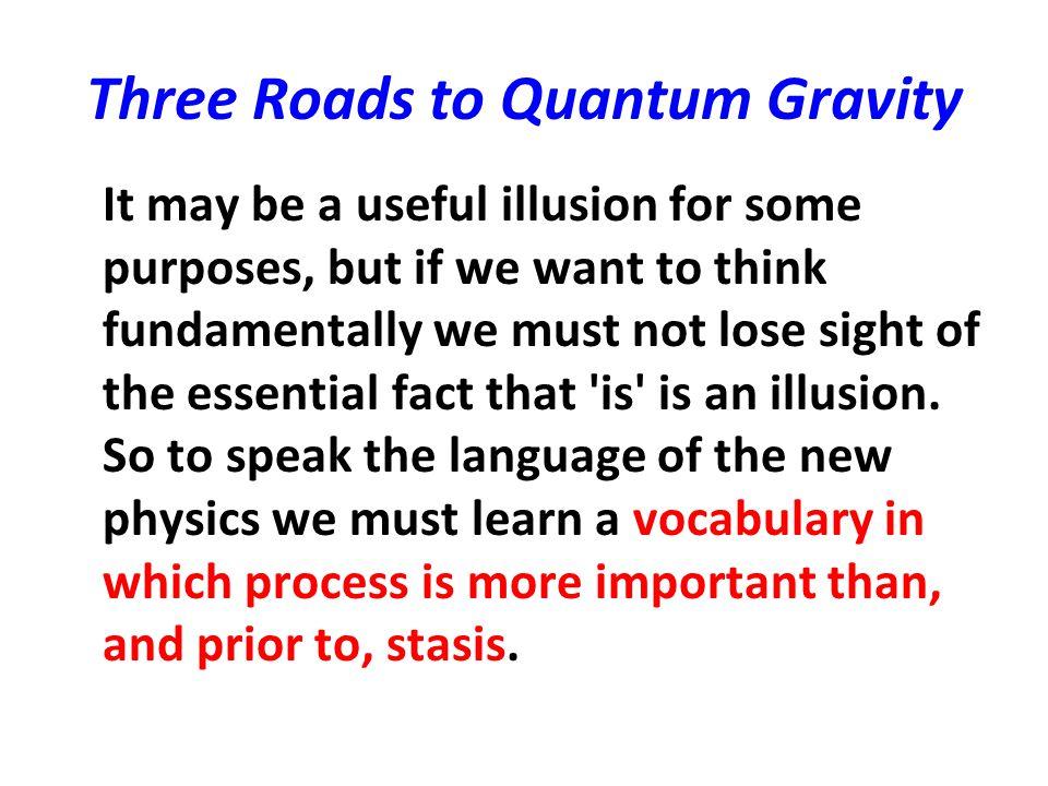 three roads to quantum gravity
