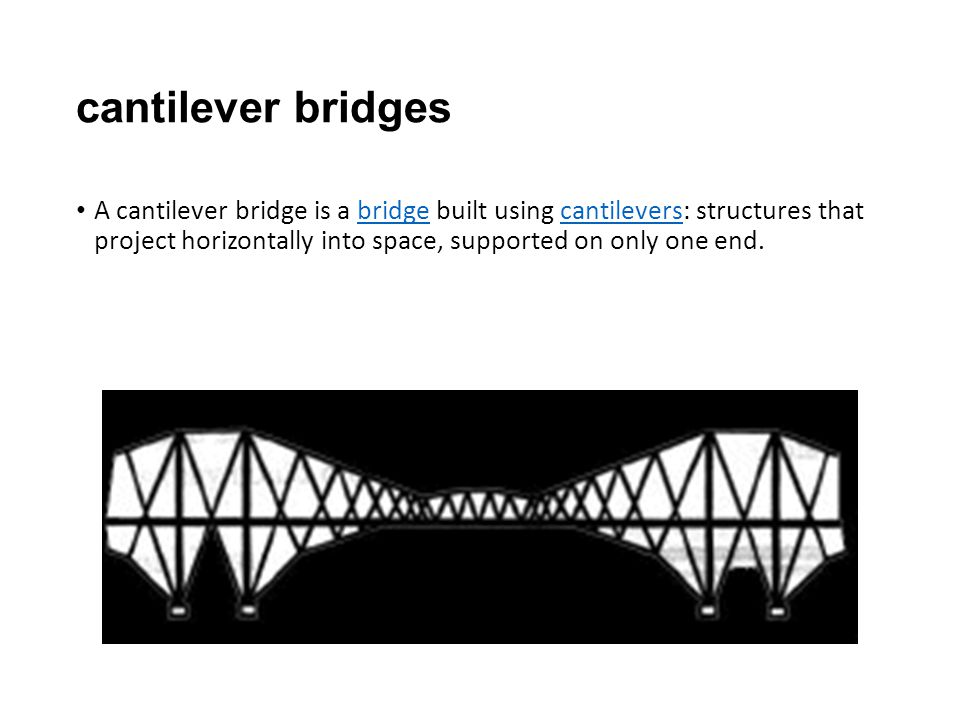 how to build a cantilever bridge for school project