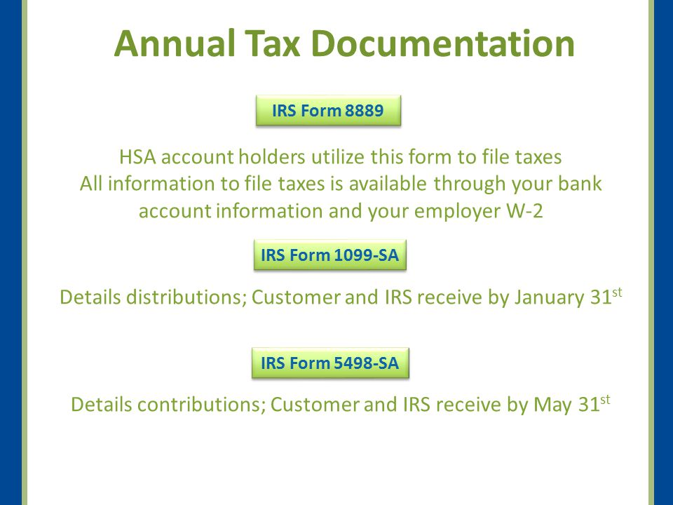 Annual Tax Documentation