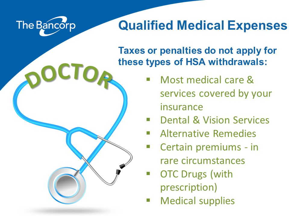 DOCTOR Qualified Medical Expenses