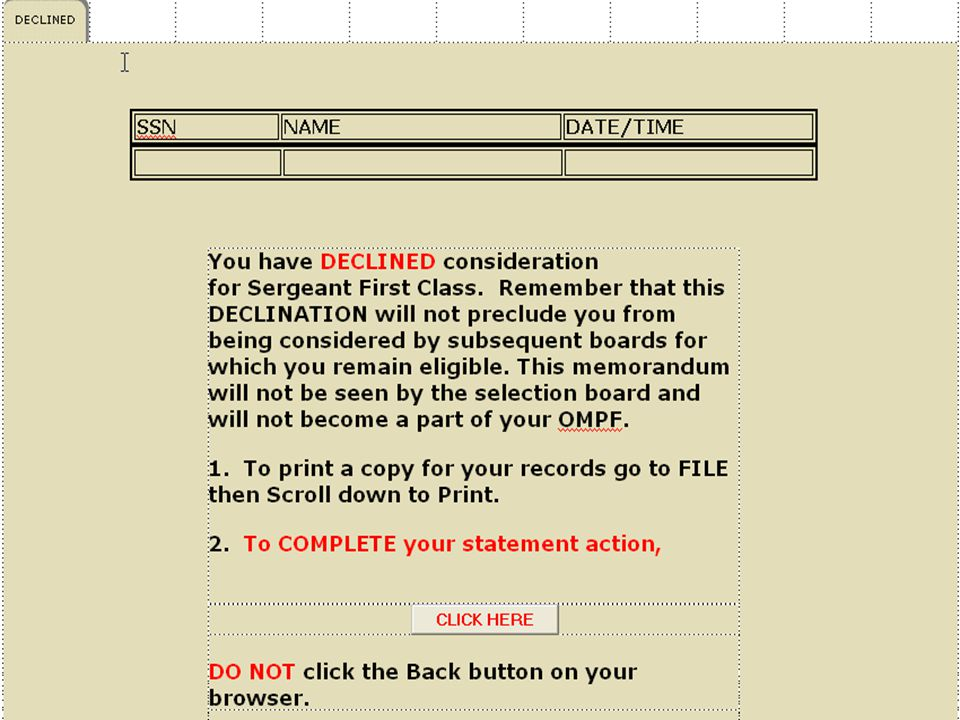 SENIOR ENLISTED SELECTION BOARDS - ppt download