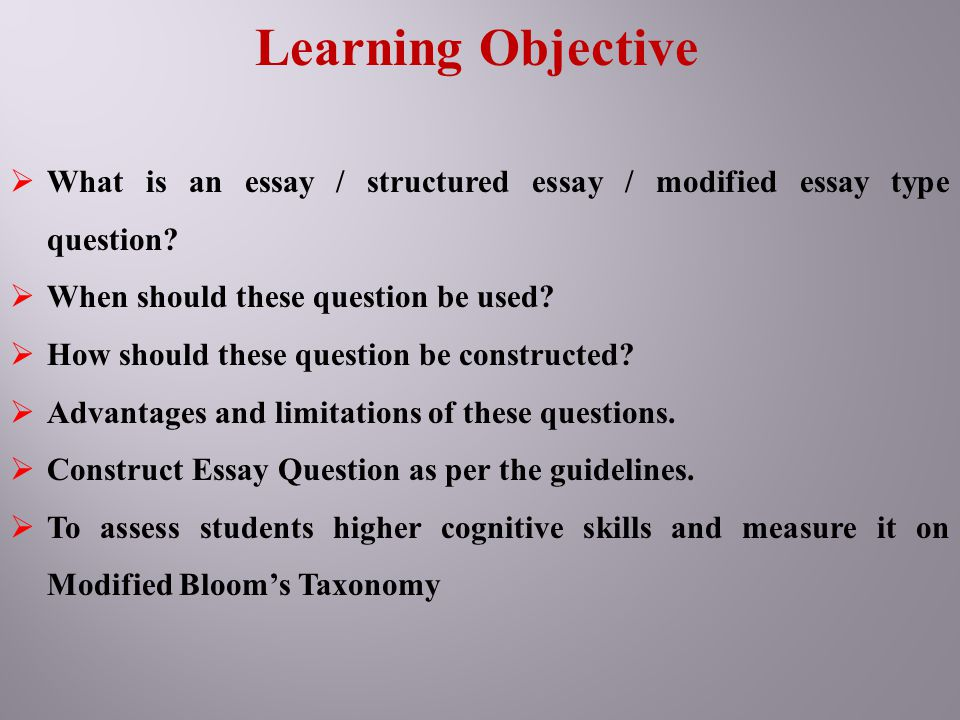 objective essay topics