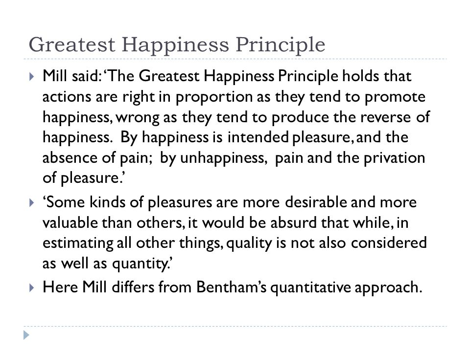 greatest happiness principle mill