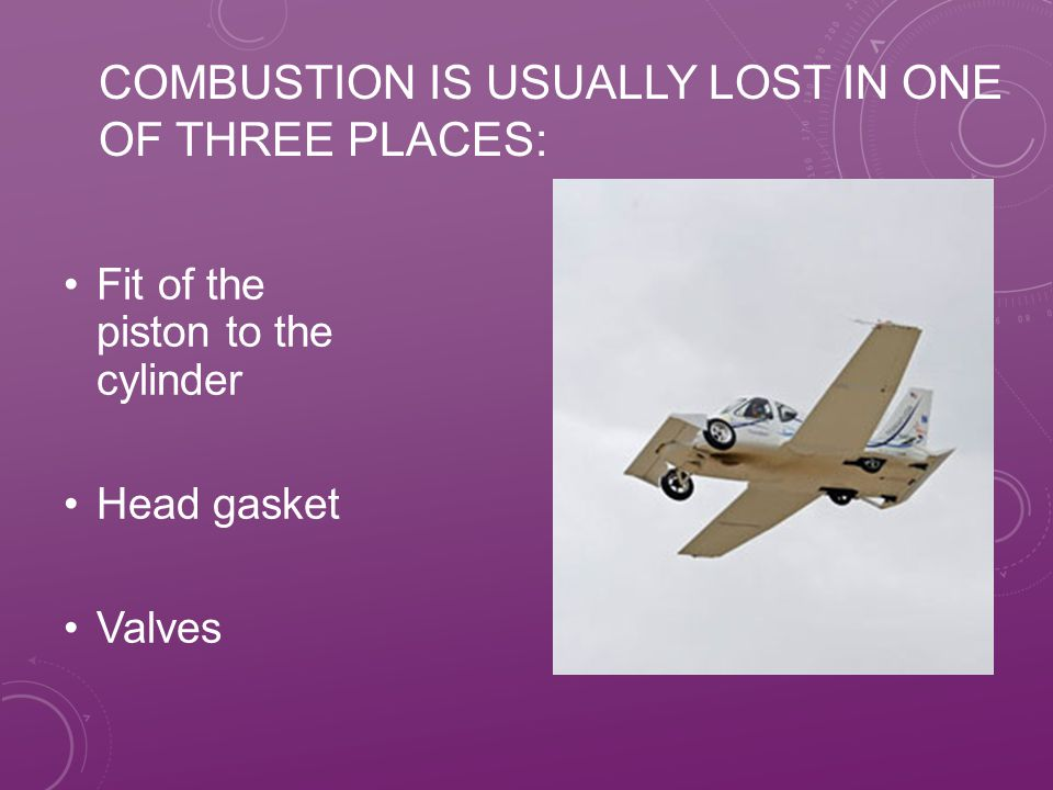 Combustion is usually lost in one of three places: