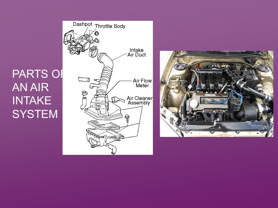 Parts of an air intake system