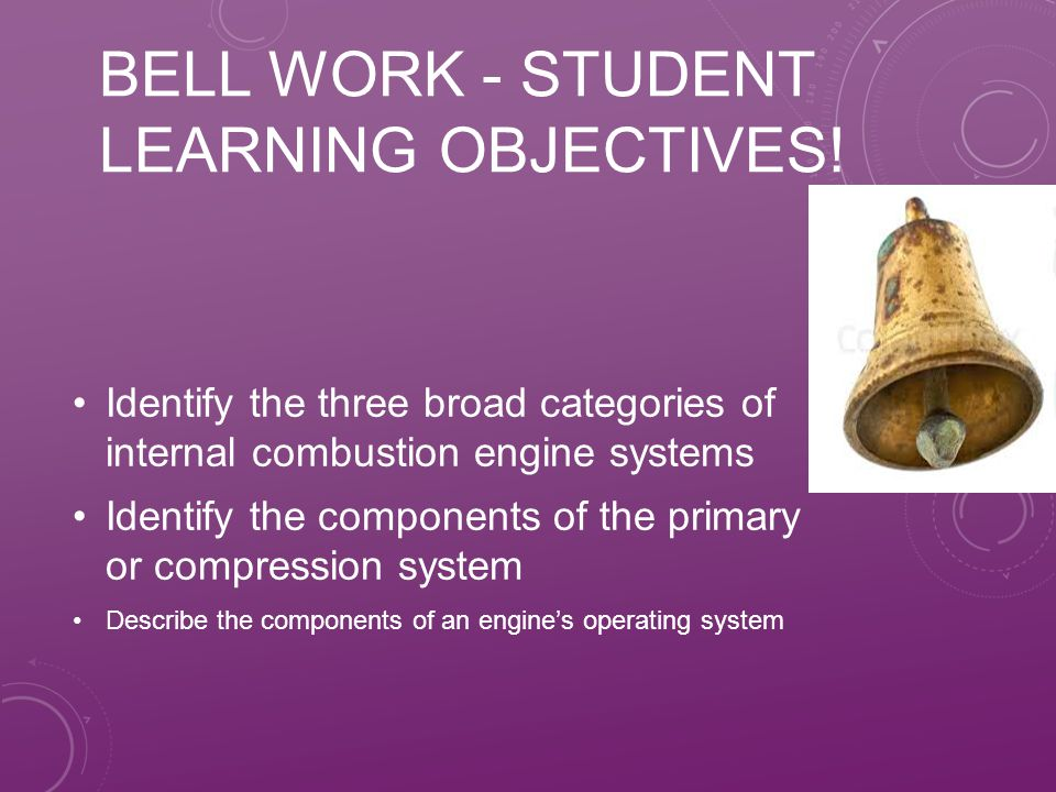Bell Work - Student Learning Objectives!