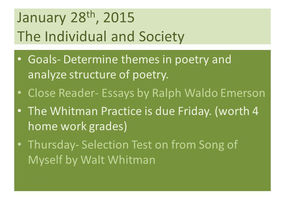 walt whitman song of myself essay