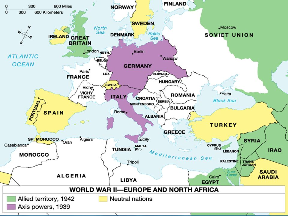 WORLD WAR II 1. WWII IN EUROPE Allies vs Axis Powers - ppt ...
