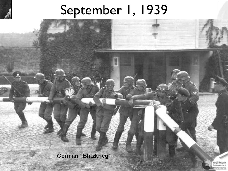 September 1, 1939 German Blitzkrieg