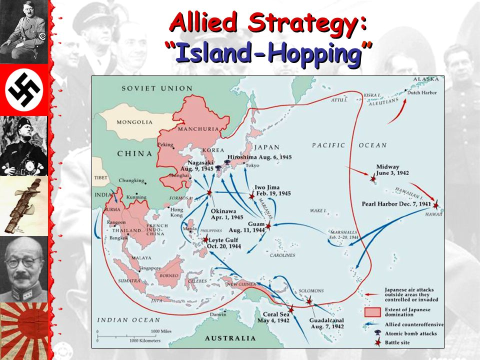 Allied Strategy: Island-Hopping