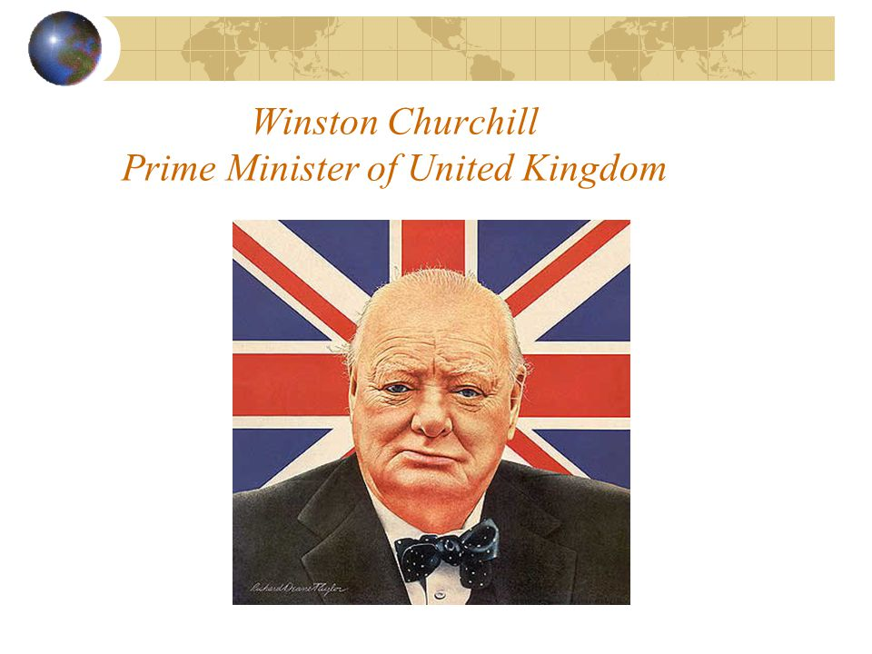 Winston Churchill Prime Minister of United Kingdom