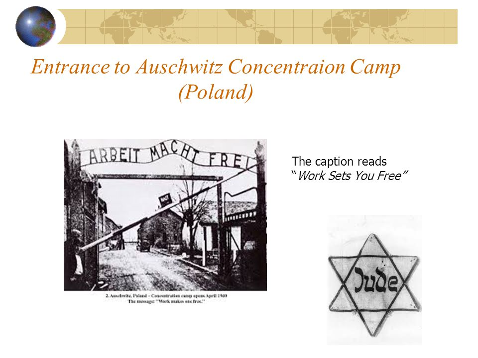 Entrance to Auschwitz Concentraion Camp (Poland)