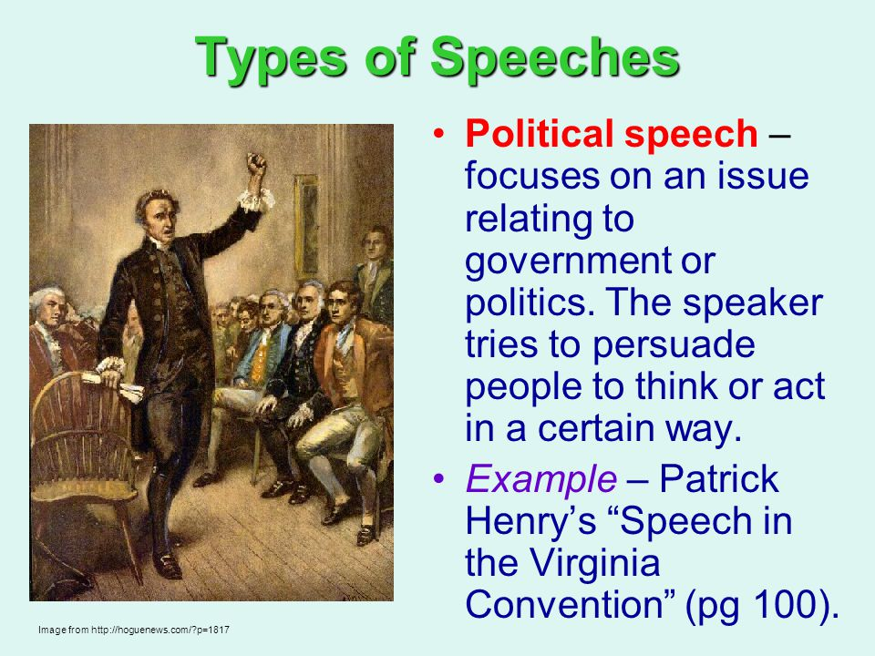 how to write a political speech for school