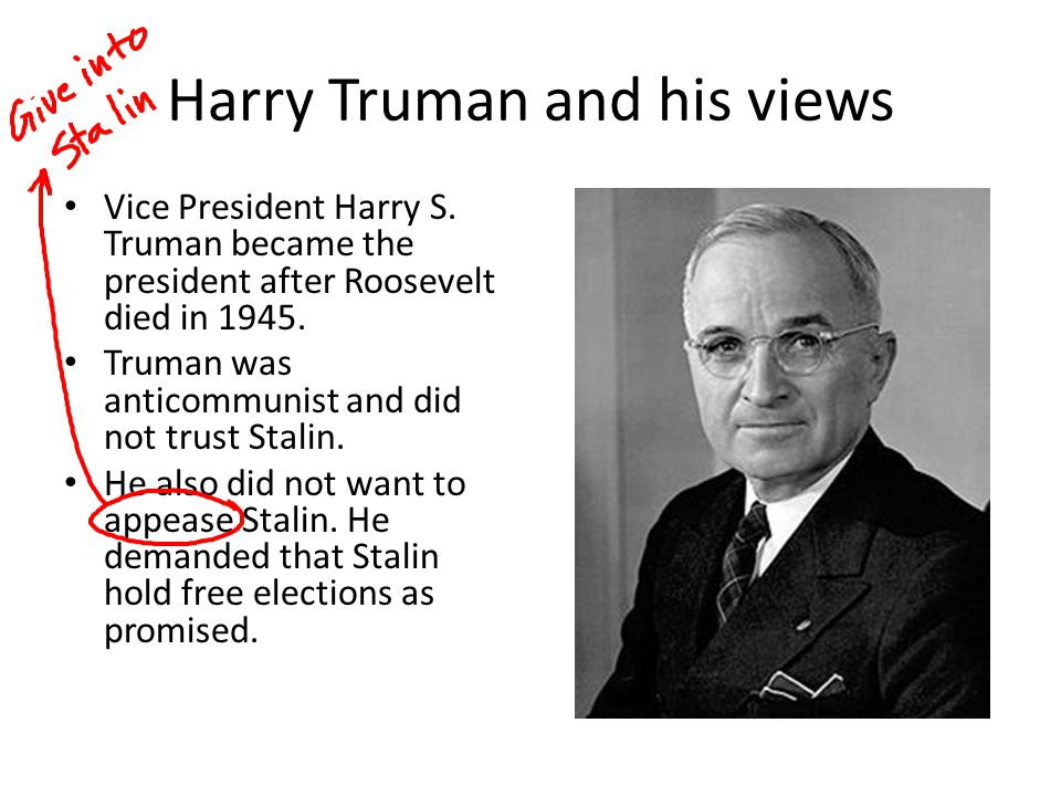 Harry Truman and his views