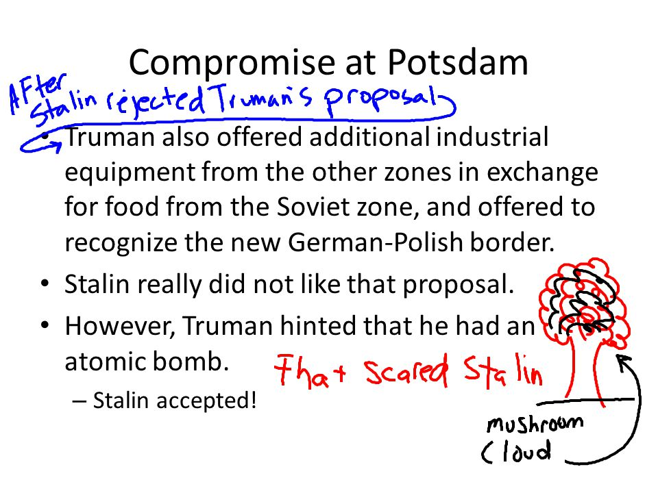 Compromise at Potsdam