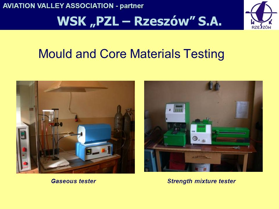 Mould and Core Materials Testing