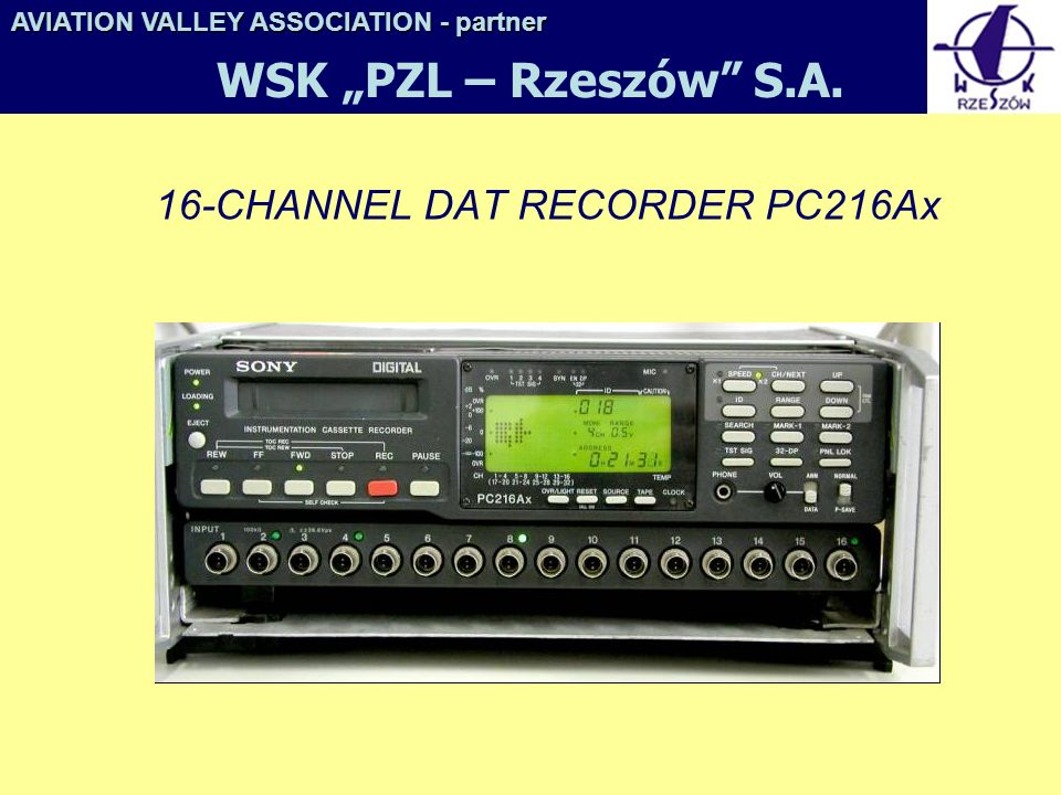 16-CHANNEL DAT RECORDER PC216Ax