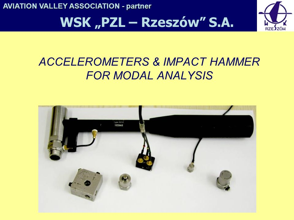 ACCELEROMETERS & IMPACT HAMMER FOR MODAL ANALYSIS