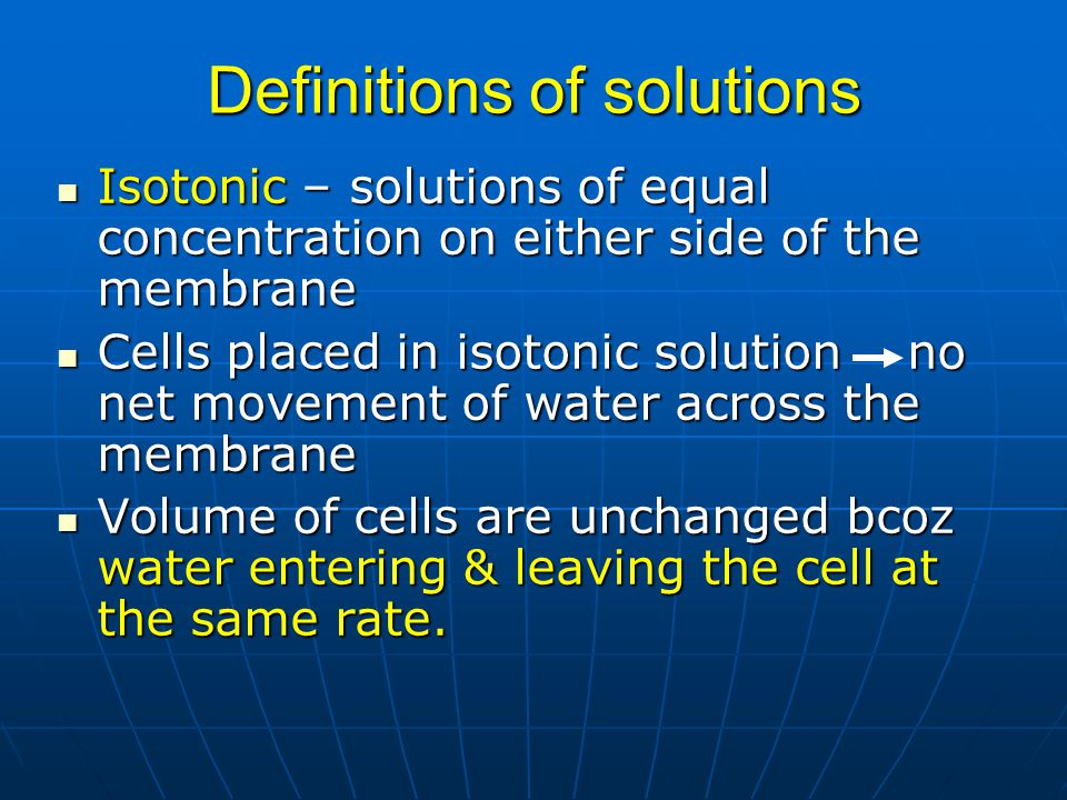 Definitions of solutions