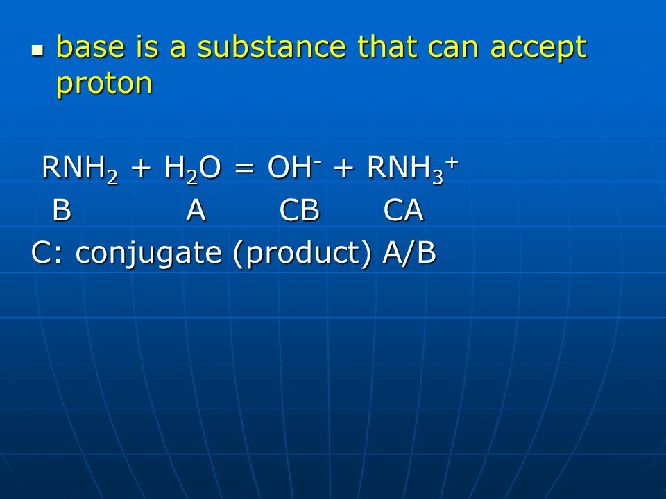 base is a substance that can accept proton