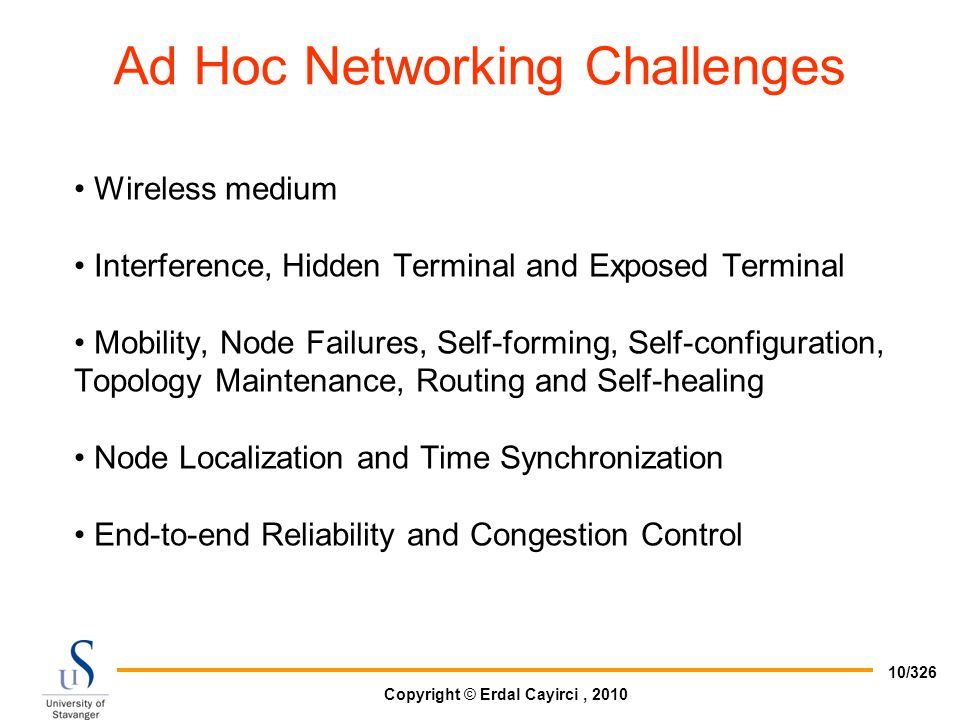 Ad Hoc Networking Challenges