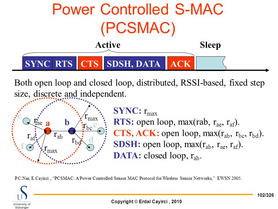 Power Controlled S-MAC (PCSMAC)