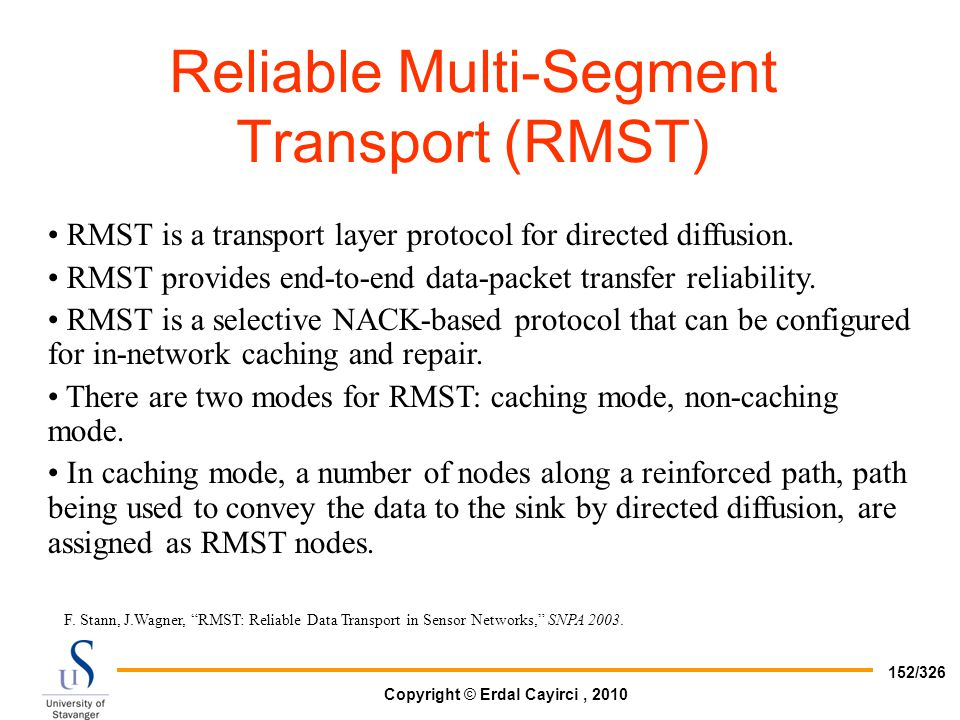 Reliable Multi-Segment Transport (RMST)