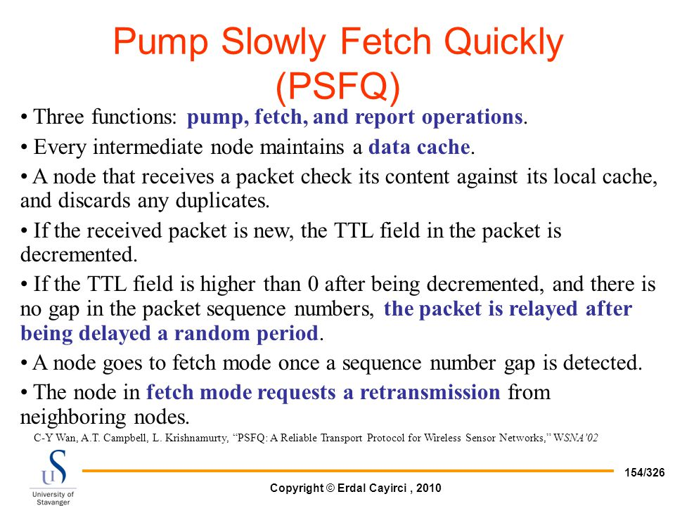 Pump Slowly Fetch Quickly (PSFQ)