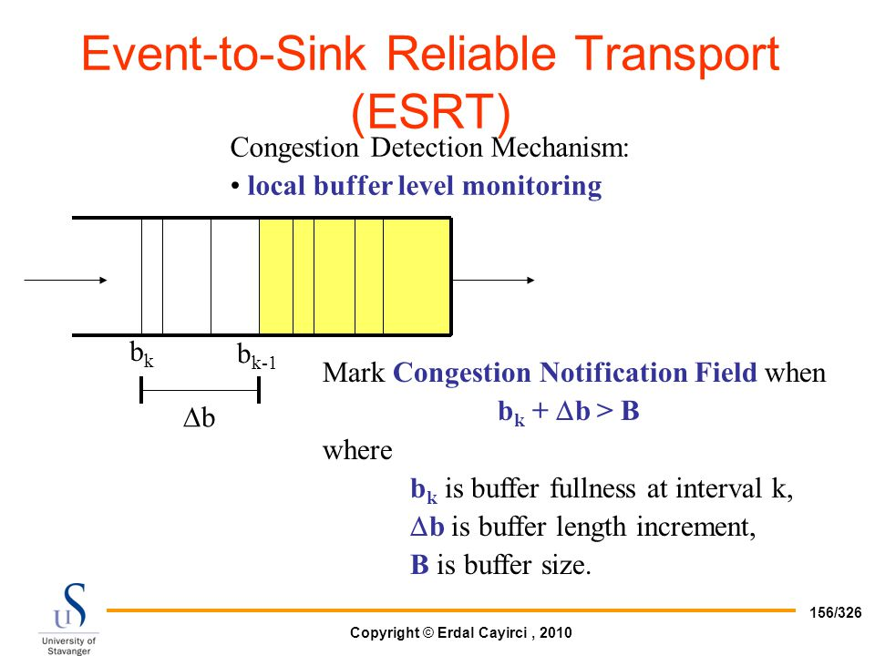 Event-to-Sink Reliable Transport (ESRT)