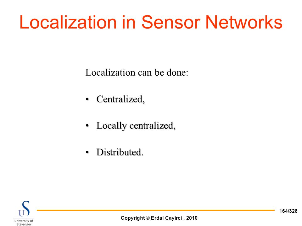 Localization in Sensor Networks