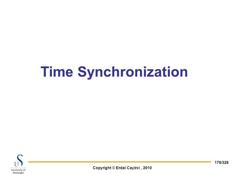 Time Synchronization