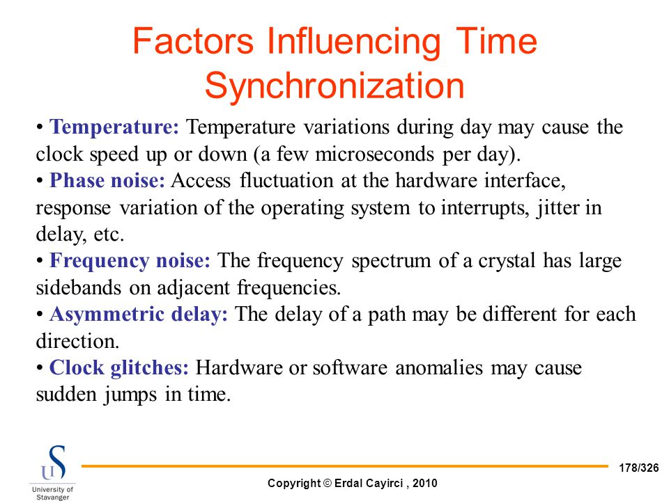 Factors Influencing Time Synchronization