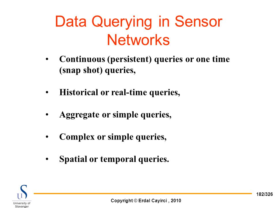 Data Querying in Sensor Networks