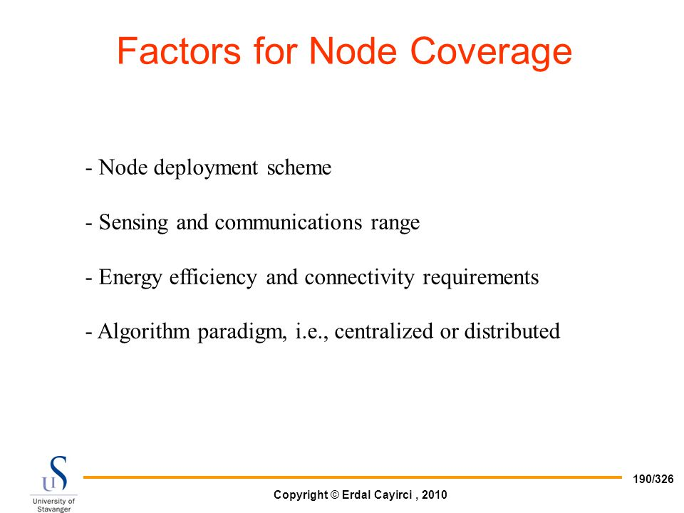 Factors for Node Coverage