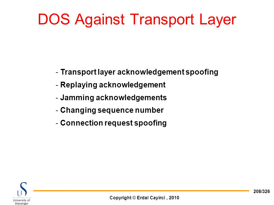 DOS Against Transport Layer