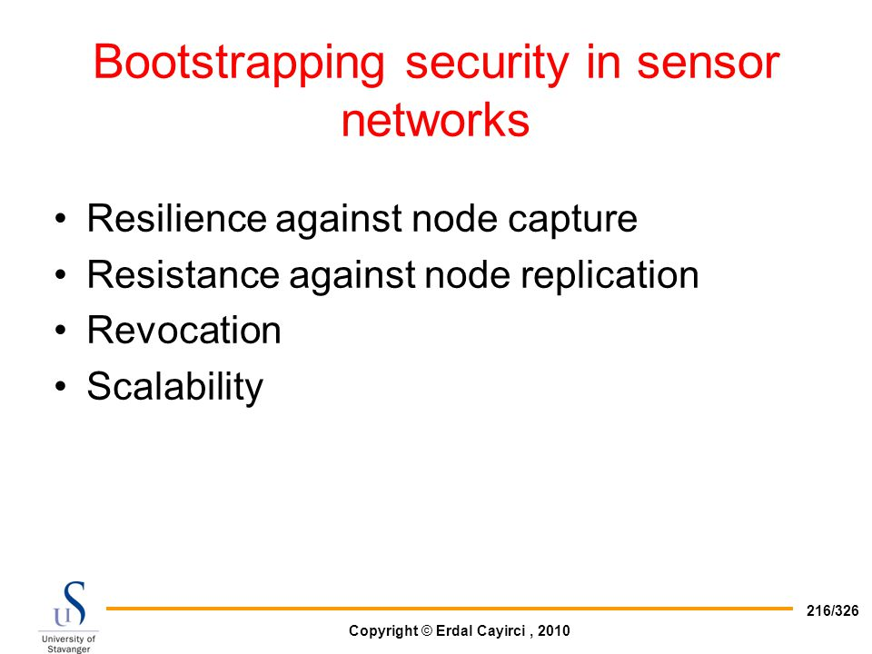 Bootstrapping security in sensor networks