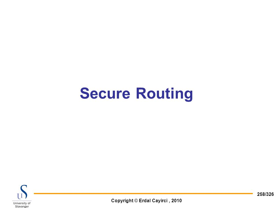 Secure Routing