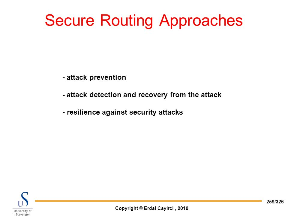 Secure Routing Approaches