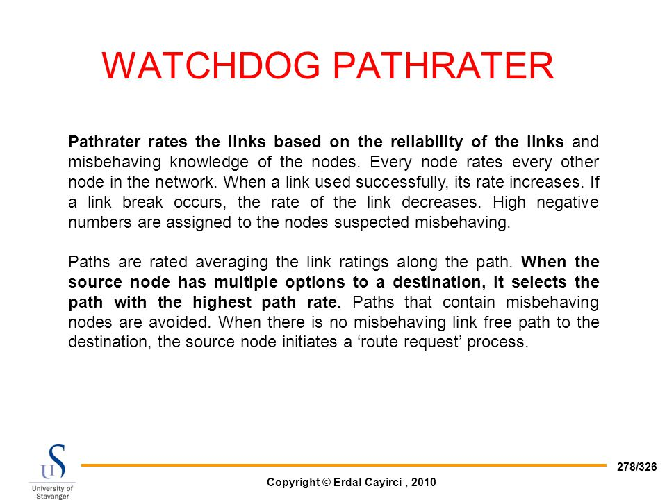 WATCHDOG PATHRATER
