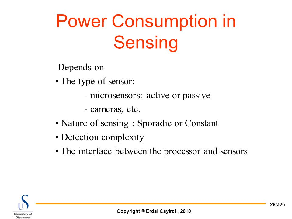 Power Consumption in Sensing