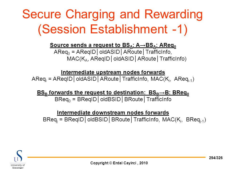 Secure Charging and Rewarding (Session Establishment -1)