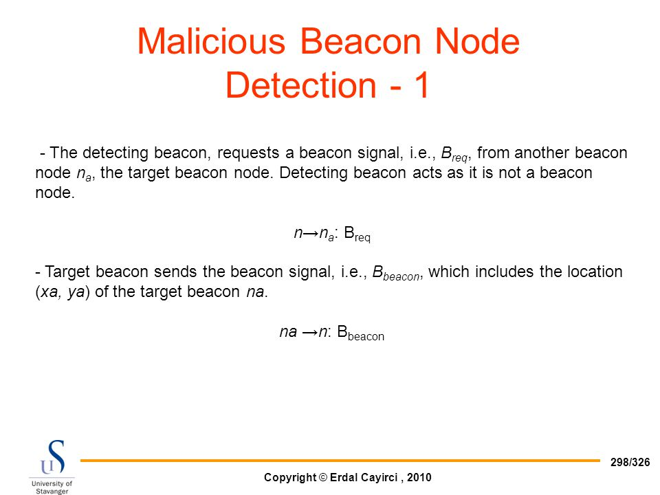 Malicious Beacon Node Detection - 1